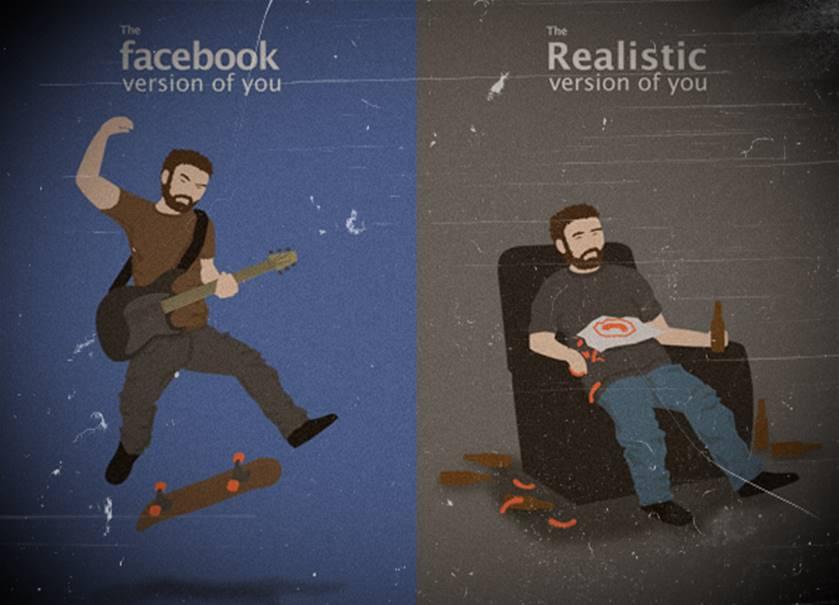 Vida paralela en las redes sociales